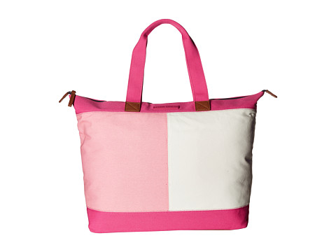 Tommy Hilfiger Flag Color Block Top Zip Tote - Canvas