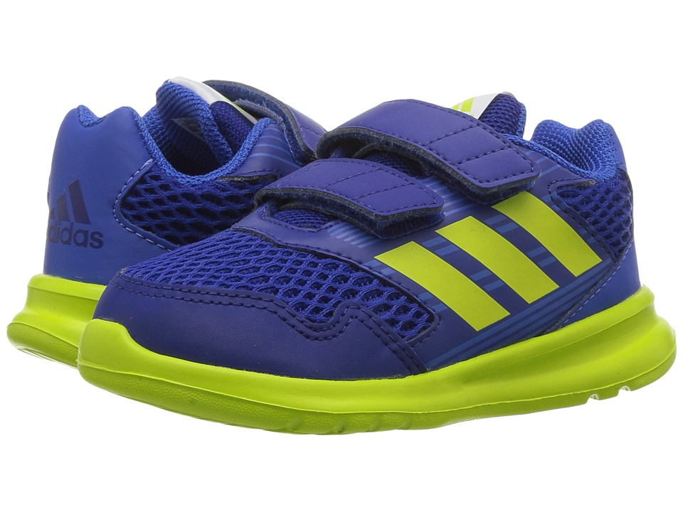 adidas Kids AltaRun CF I (Toddler) (Mystery Ink/Semi Solar Yellow/Blue) Boys Shoes