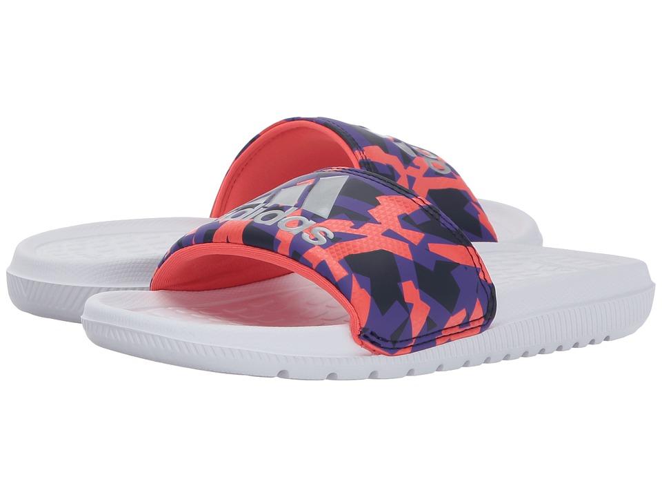 adidas Kids Voloomix xJ (Little Kid/Big Kid) (Footwear White/Energy Ink/Noble Ink) Kids Shoes