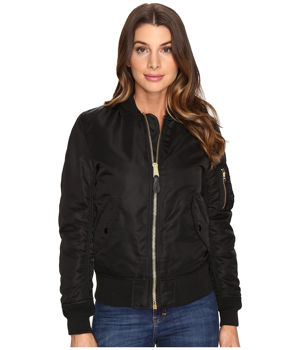 Alpha Industries MA-1 Flight Jacket (Black) Women's Coat