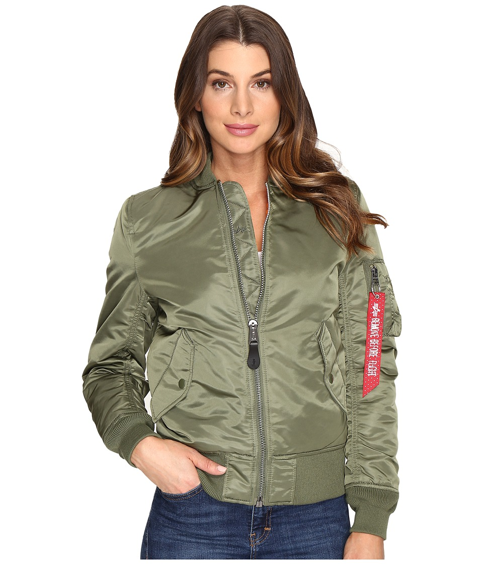 Alpha Industries MA-1 Flight Jacket (Sage Green) Women's ...