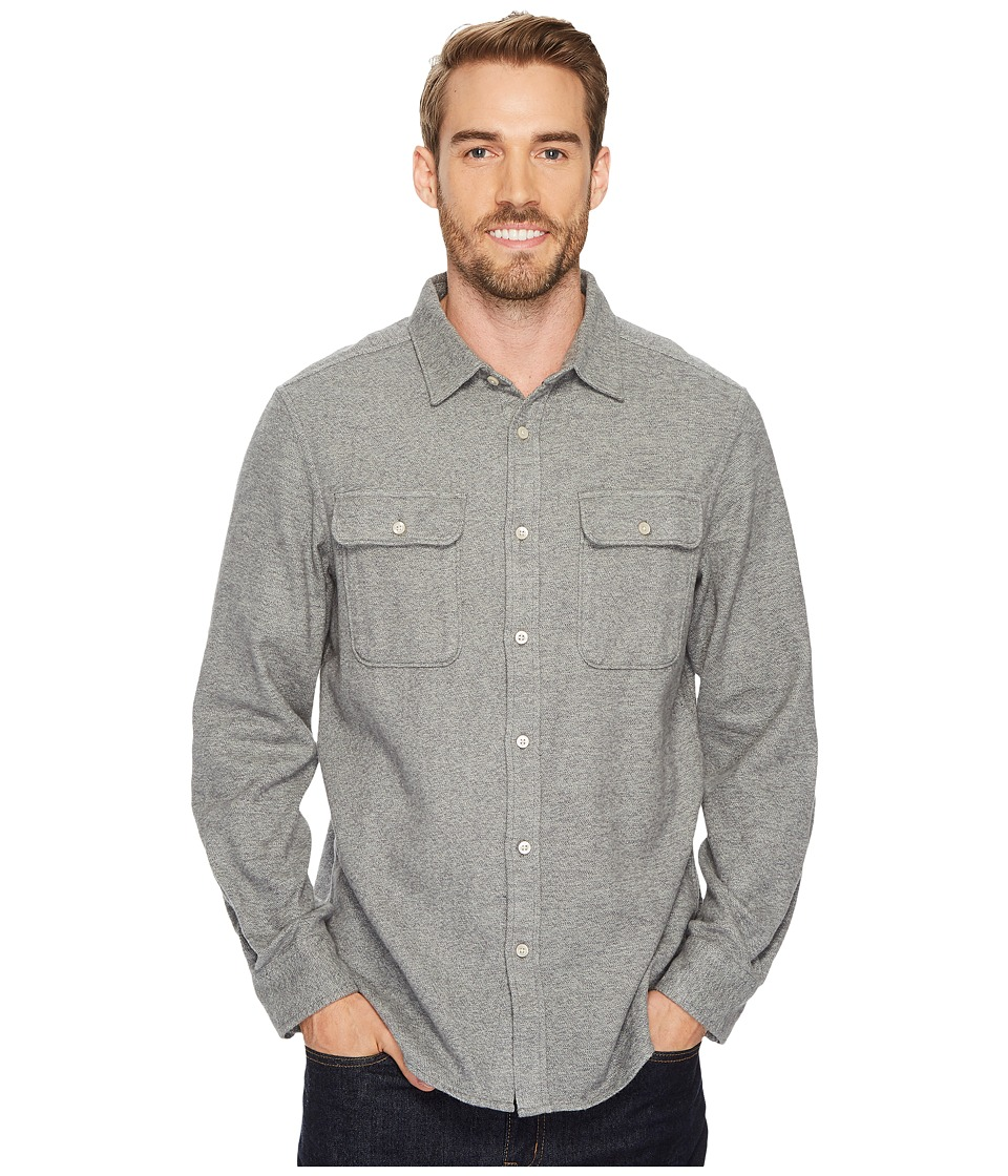 The North Face Long Sleeve Arroyo Flannel Shirt (TNF Medium Grey Heather) Men