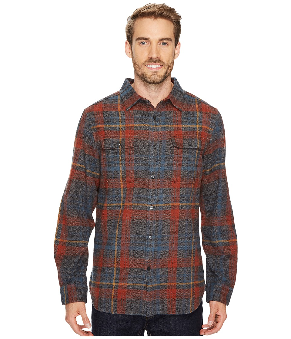 The North Face Long Sleeve Arroyo Flannel Shirt (Asphalt Grey Plaid) Men
