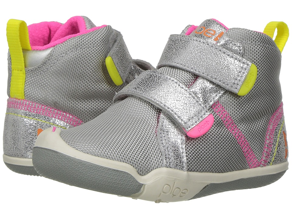 PLAE Max (Toddler/Little Kid) (Silver) Girl's Shoes