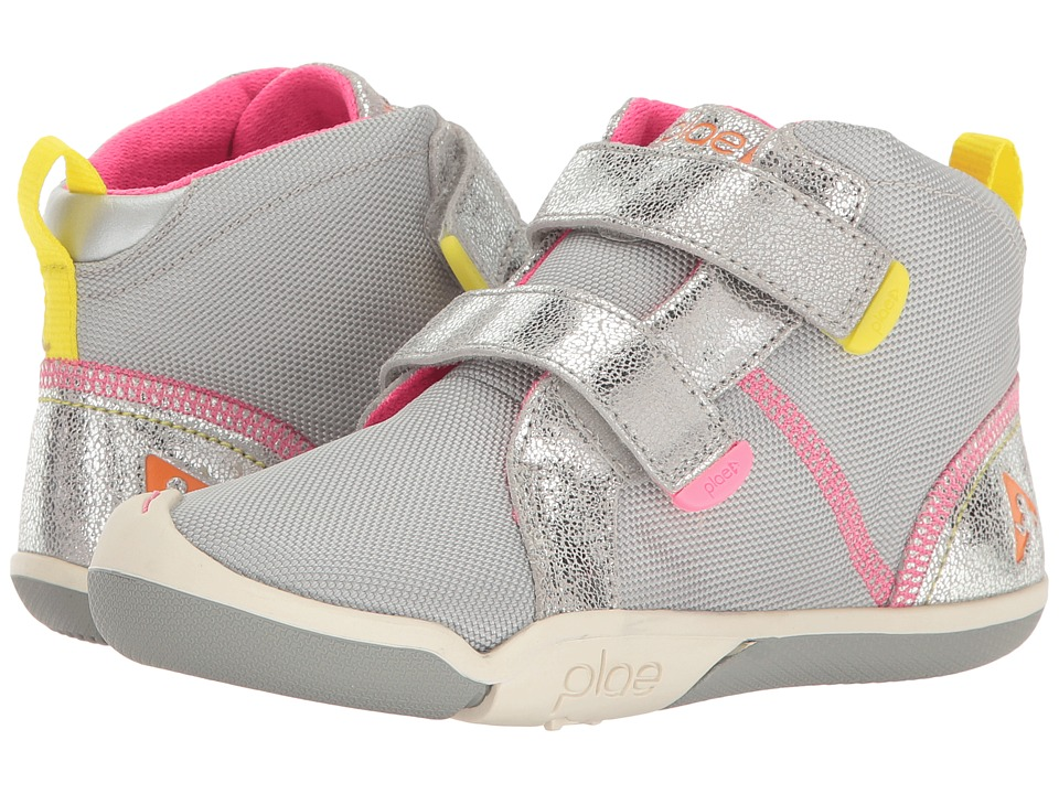 PLAE Max (Little Kid/Big Kid) (Silver) Girl's Shoes