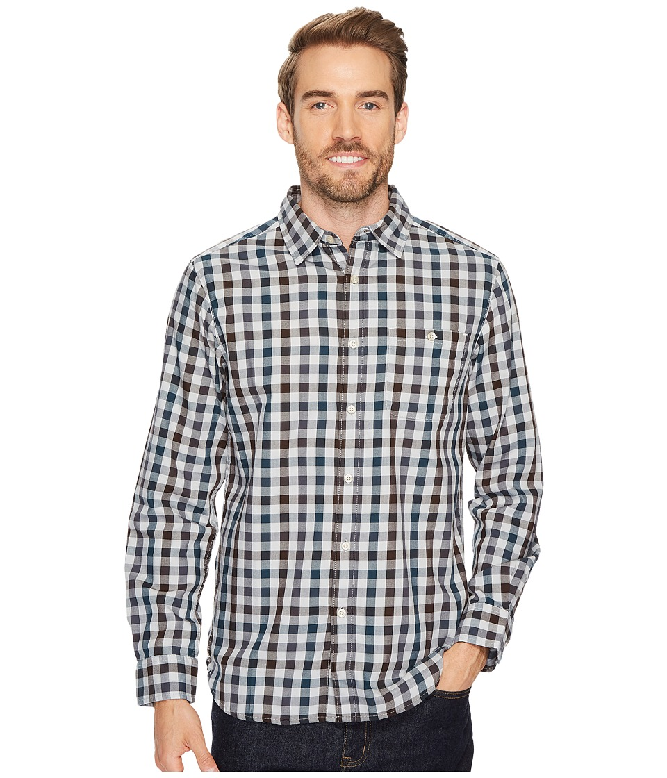 The North Face Long Sleeve Hayden Pass Shirt (High-Rise Grey Plaid) Men