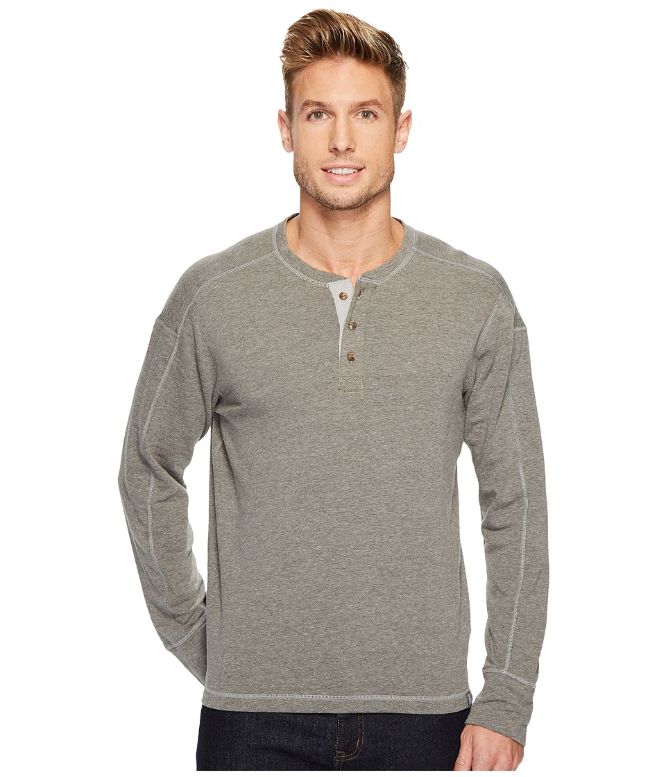 The North Face Long Sleeve Terry Henley (TNF Medium Grey Heather) Men
