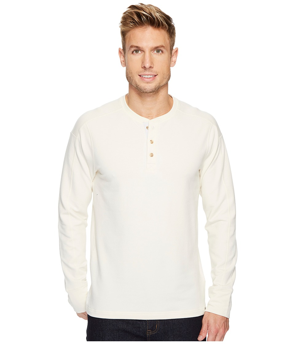 The North Face Long Sleeve Terry Henley (Vintage White) Men