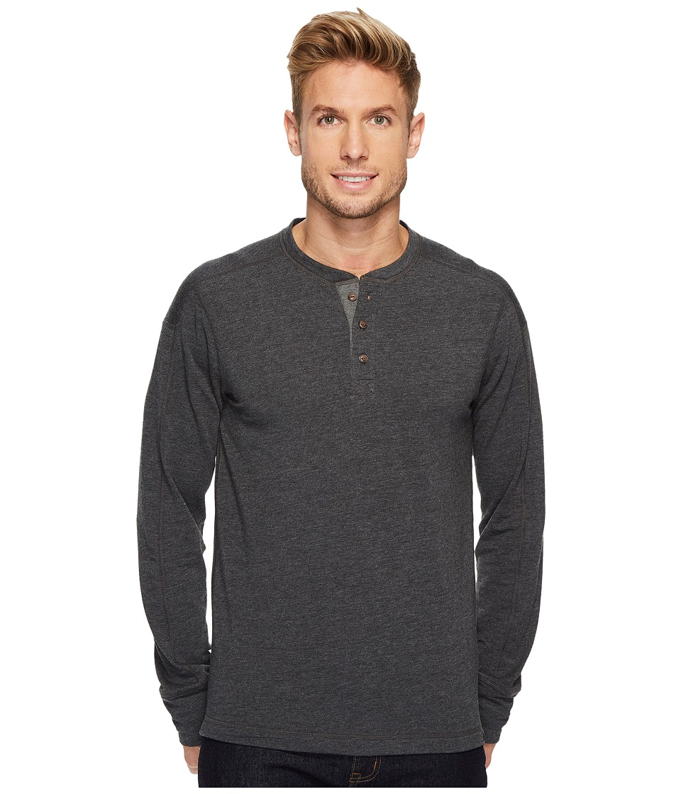 The North Face Long Sleeve Terry Henley (TNF Dark Grey Heather) Men