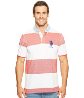 U.S. POLO ASSN. - Short Sleeve Striped Classic Fit Pique Polo Shirt