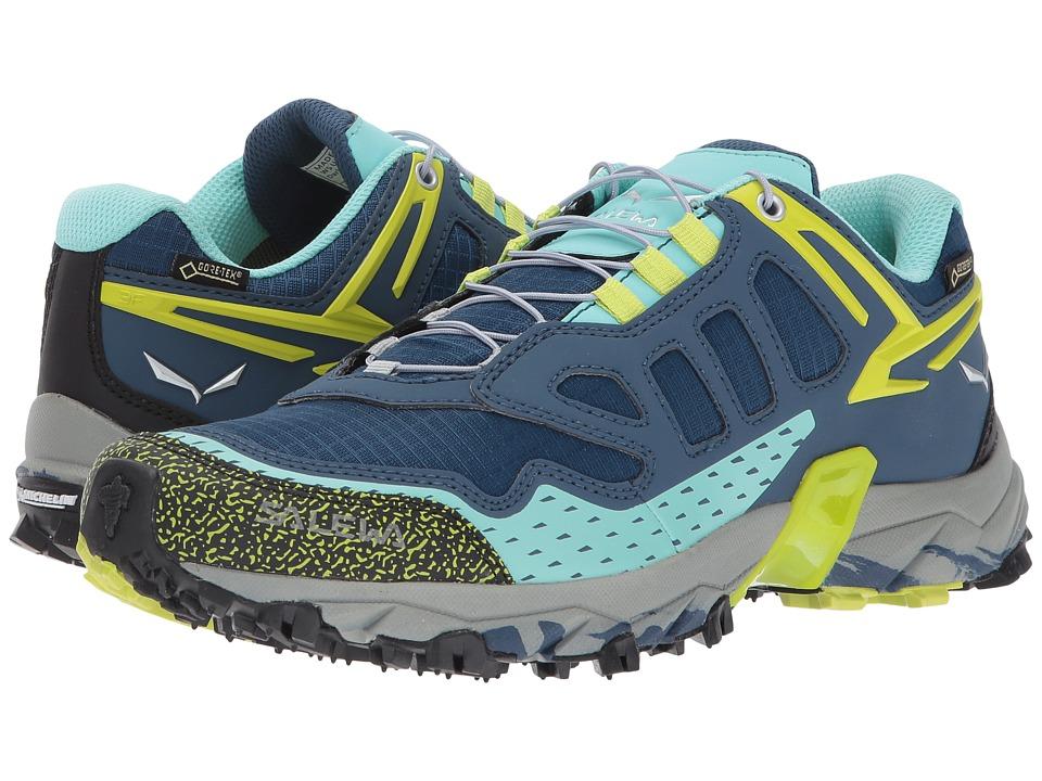 Salewa Ultra Train GTX (Dark Denim/Aruba Blue) Women's Shoes