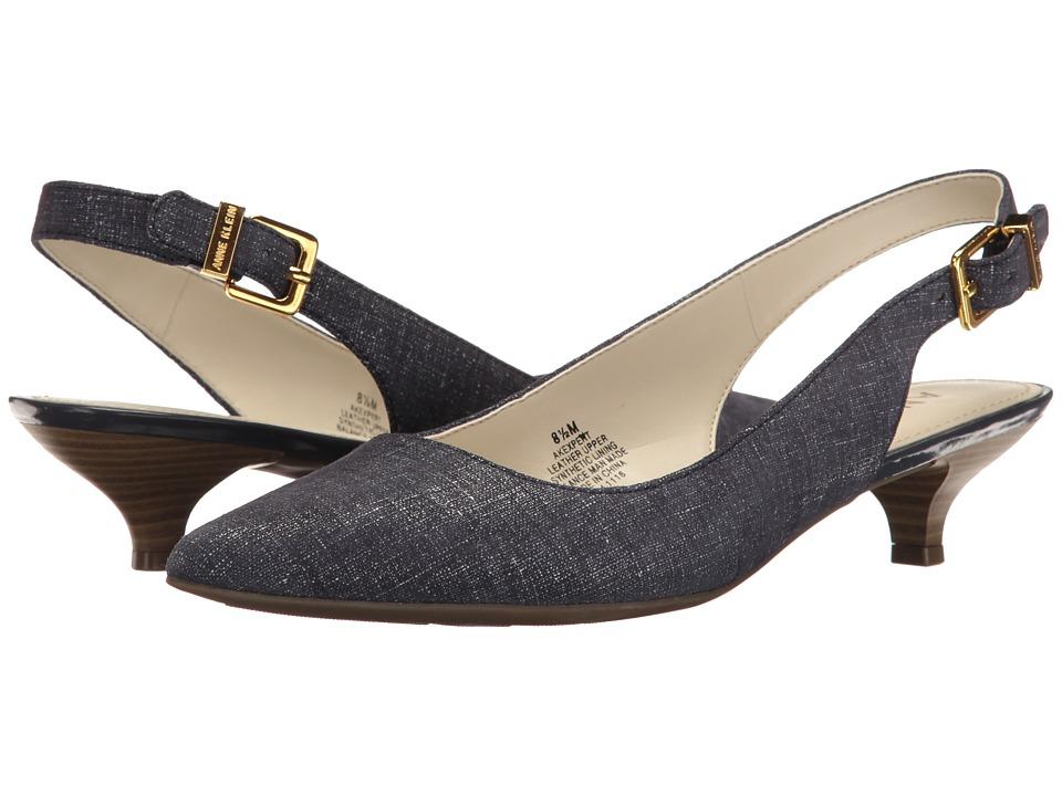 Anne Klein Expert (Navy Leather (Jeans/Eclipse)) Women