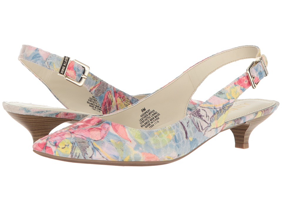 Anne Klein Expert (Light Blue/Pink Multi Reptile (Bali Floral)) Women