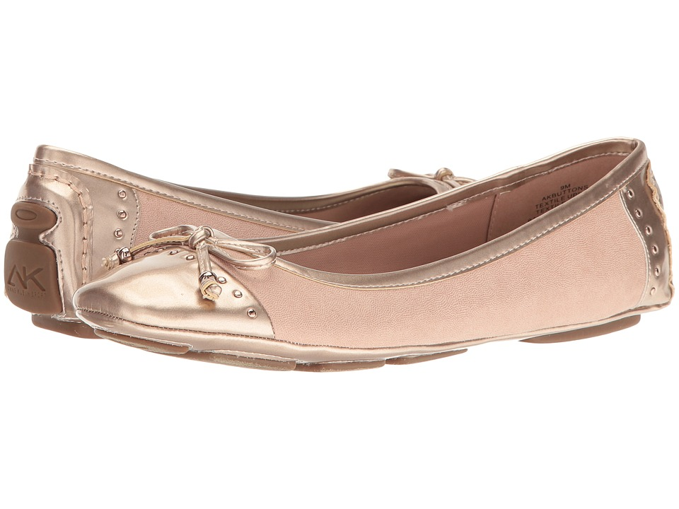 Anne Klein Buttons (Light Pink/Metallic Pink Fabric) Women