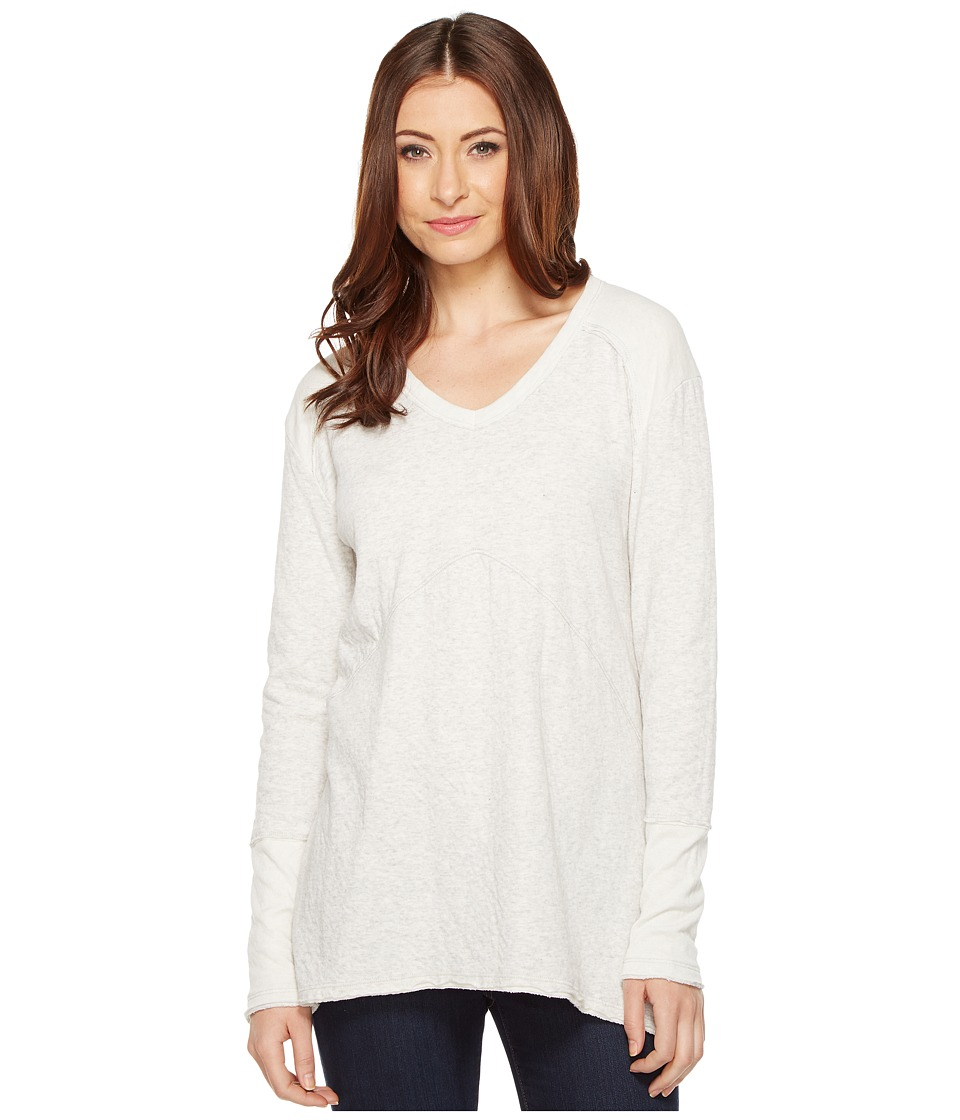 Mod-o-doc - 2-Ply Pointelle Seamed Long Sleeve V