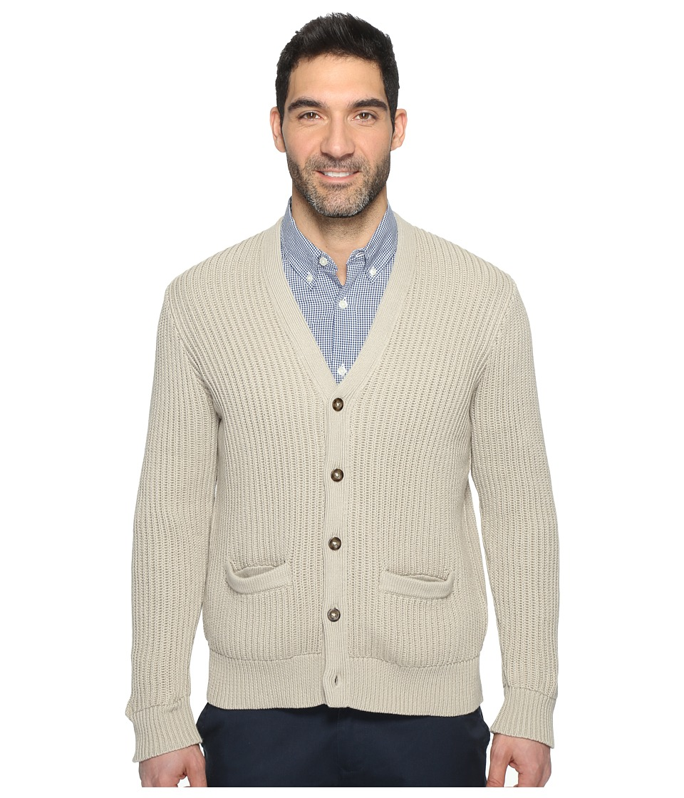 Dockers Premium Cotton Cashmere Cardigan (Safari Beige) Men