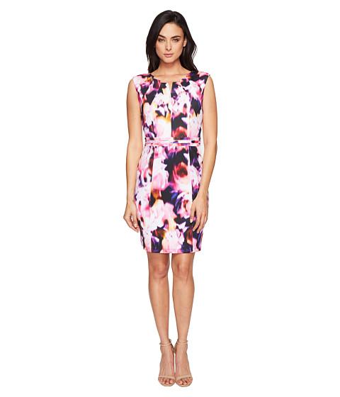 Ellen Tracy Floral Print Scuba Dress