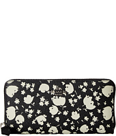 COACH - Floral Printed Leather Accordion Zip Wallet