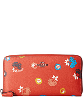 COACH - Wild Prairie Print Accordion Zip Wallet