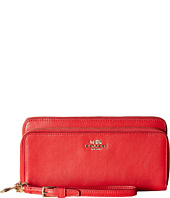 COACH - Smooth Leather Double Zip Accordion