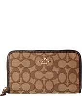 COACH - Signature Medium Zip Around Wallet