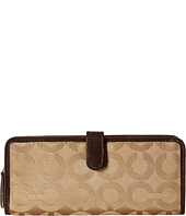 COACH - Madison Op Art Small Skinny Wallet