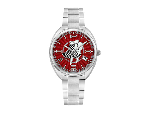 Fendi Timepieces Momento Fendi Lovers 34mm - F233037300 - Red/Stainless Steel