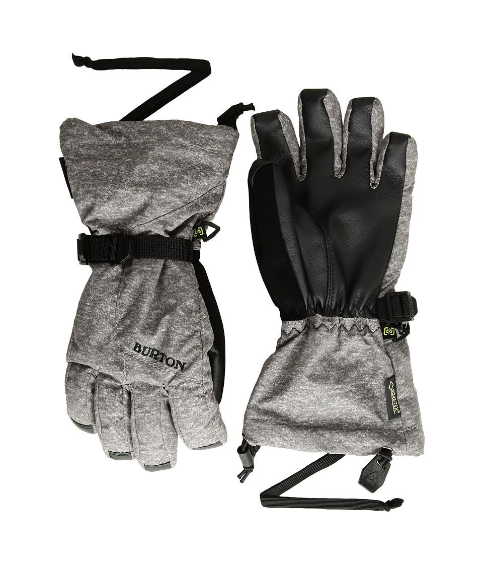 Burton Gore-Tex(r) Gloves (Little Kids/Big Kids) (Monument Heather) Snowboard Gloves