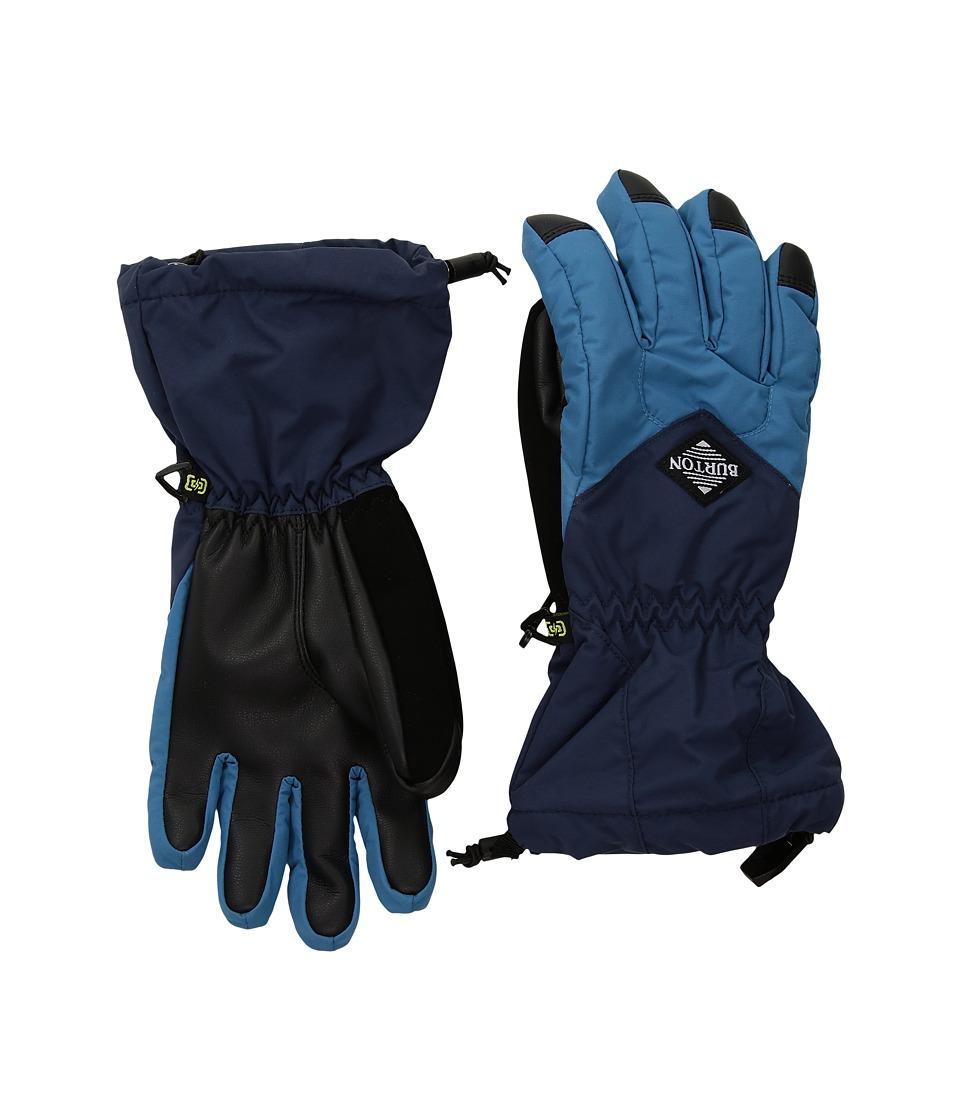 Burton Profile Gloves (Little Kids/Big Kids) (Mountaineer/Mood Indigo) Snowboard Gloves