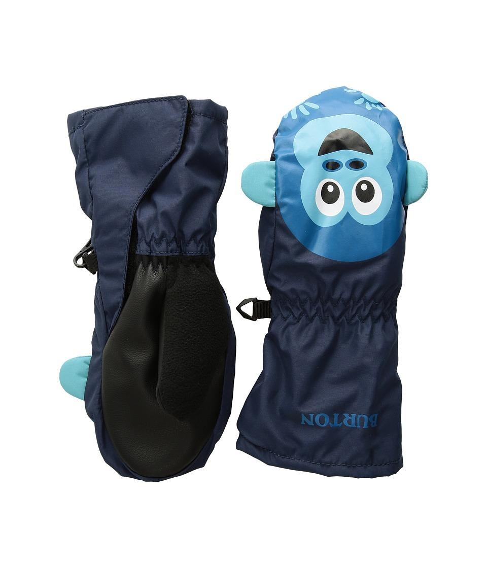 Burton Minishred Grommitt Mitt (Toddler) (Monkee/Mood Indigo) Snowboard Gloves