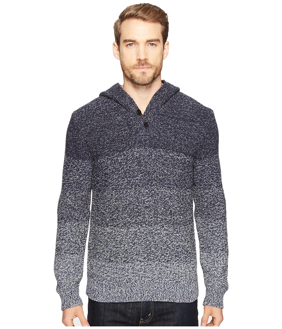 Lucky Brand Relaxed Ombre Hoodie (Blue Ombre) Men