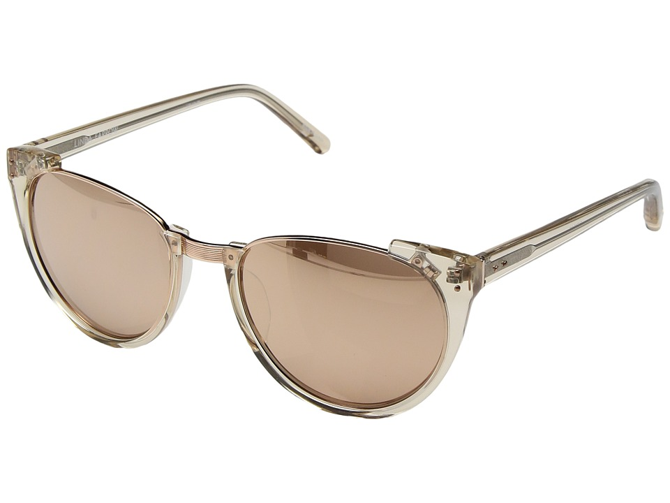 Linda Farrow Luxe - LFL136C30SUN Rose Gold Sunglasses (Ash/Rose Gold/Rose Gold) Fashion Sunglasses