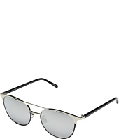 Linda Farrow Luxe - LFL421C6SUN White Gold w/ Black Trim Sunglasses