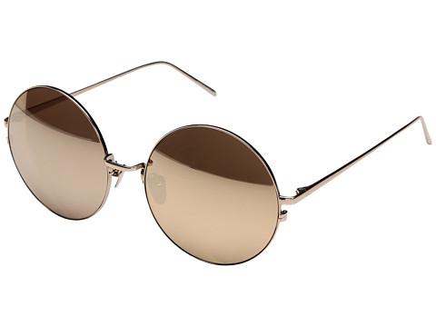 Linda Farrow Luxe LFL343C6SUN Rose Gold Round Sunglasses