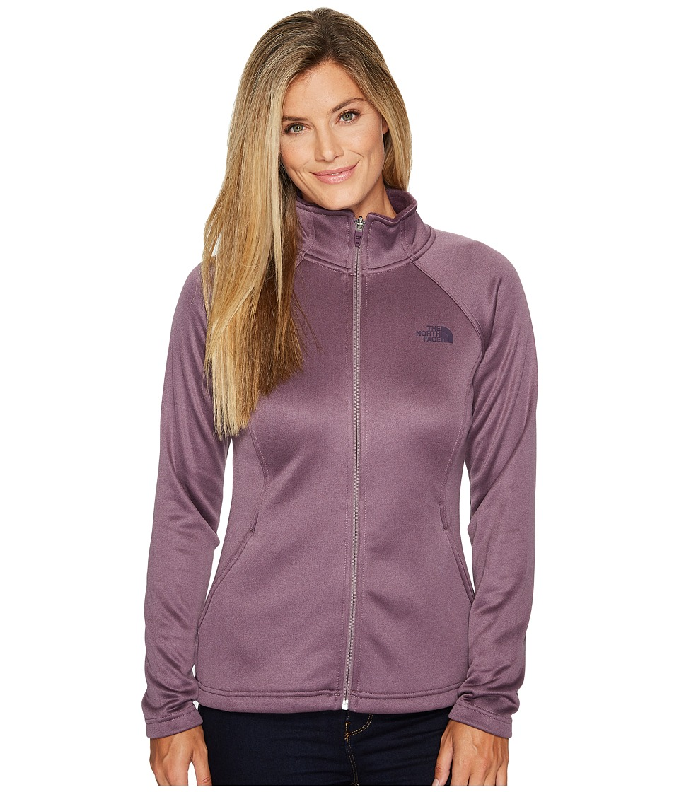 The North Face Agave Full Zip (Black Plum Heather) Women