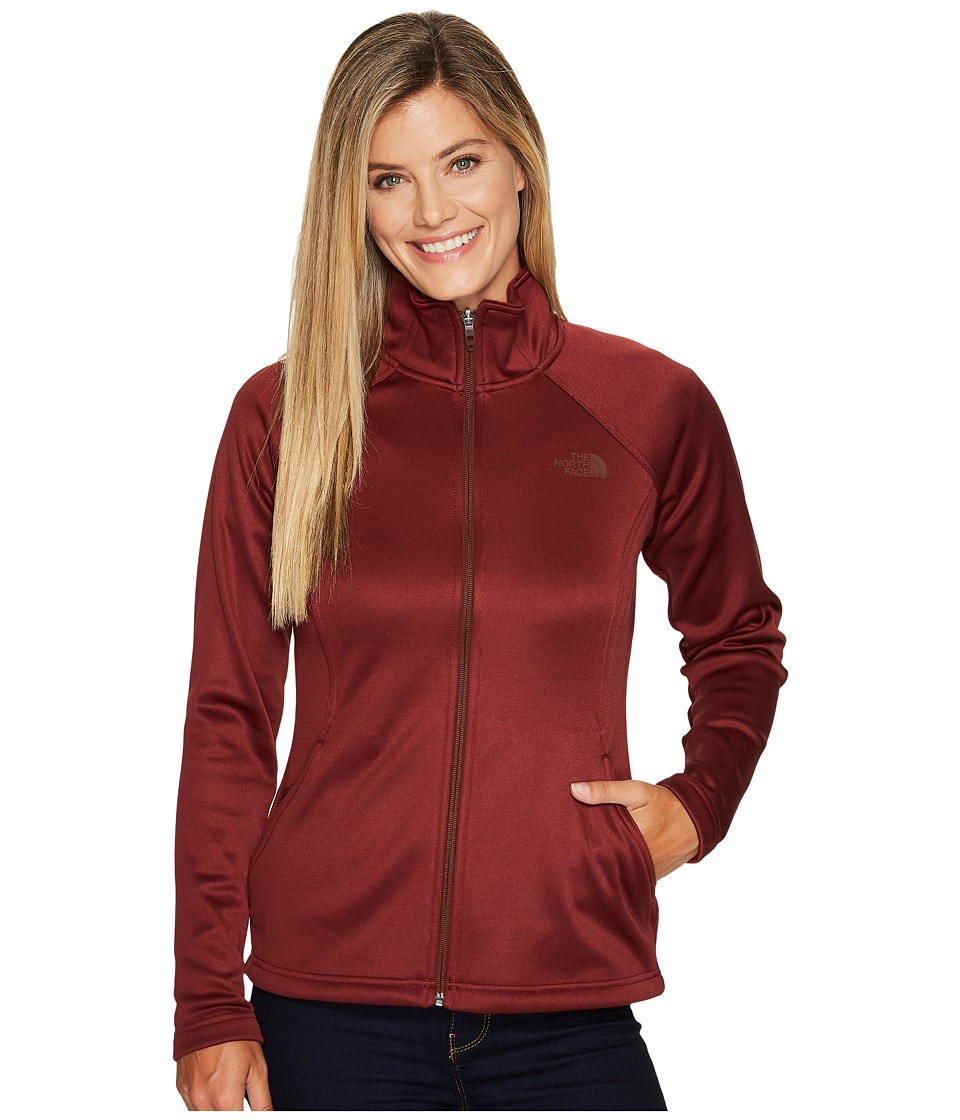 The North Face Agave Full Zip (Barolo Red Heather) Women