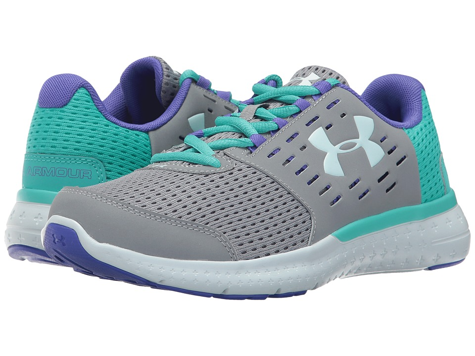 Under Armour Kids UA GGS Micro G Motion (Big Kid) (Steel/Neptune/Skylight) Girls Shoes