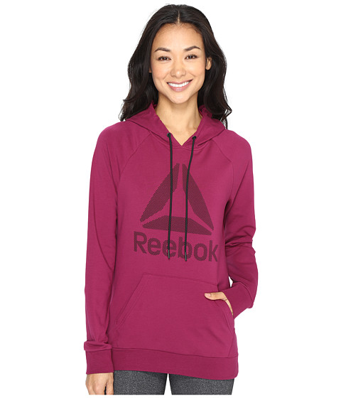 Reebok Workout Ready Big Stacked Logo Pullover