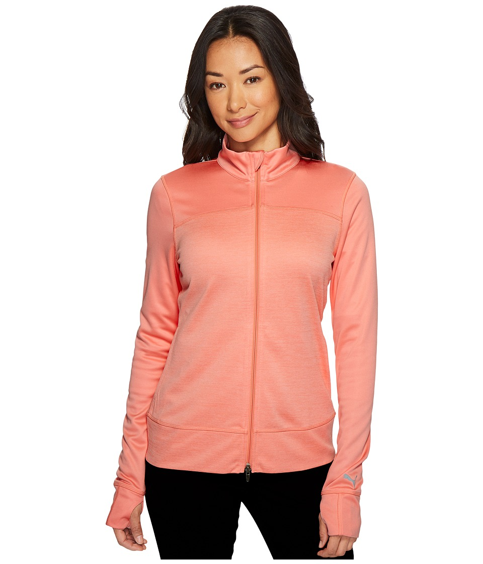 Puma Golf - Colorblock Full Zip Jacket (NRGY Peach) Women...