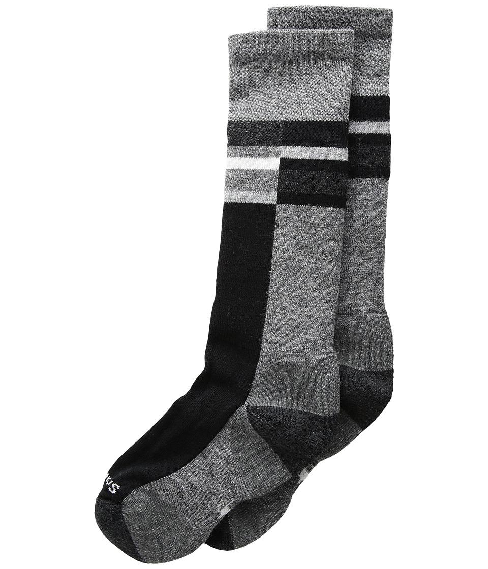 Smartwool - Wintersport Stripe (Toddler/Little Kid/Big Kid) (Medium Gray) Knee High Socks Shoes