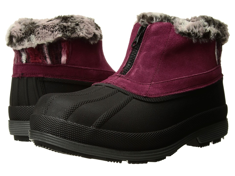 Propet Lumi Ankle Zip (Berry) Women