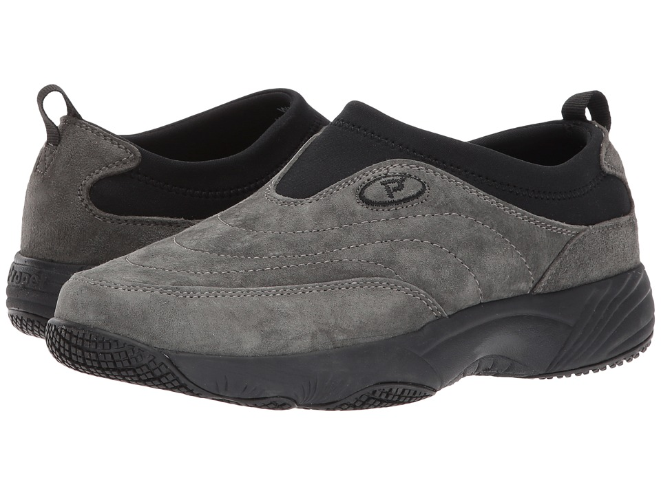 Propet Wash Wear Slip-On II (Pewter Suede) Women's Shoes