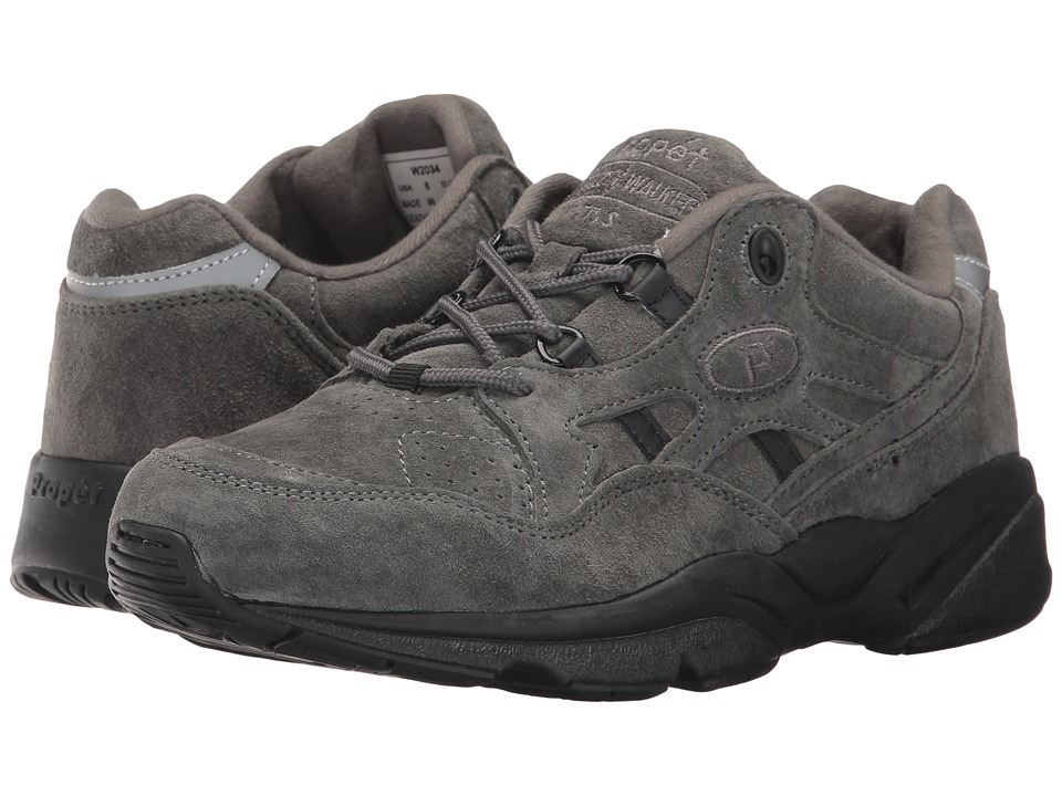 Propet - Stability Walker Medicare/HCPCS Code = A5500 Diabetic Shoe (Pewter Suede) Womens Walking Shoes