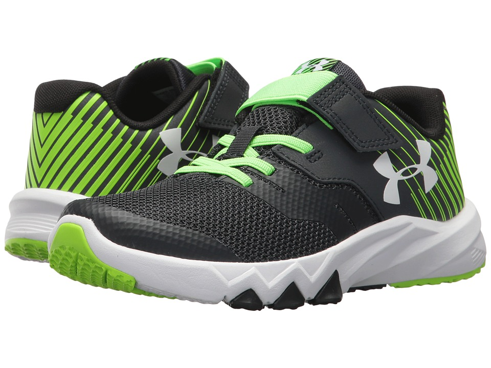 Under Armour Kids UA BPS Primed 2 AC (Little Kid) (Anthracite/Hyper Green/White) Boys Shoes