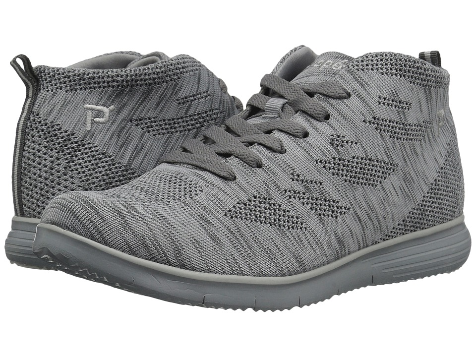 Propet TravelFit Hi (Light Grey) Women's Shoes