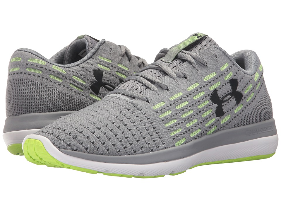 Under Armour - UA Threadborne Slingflex (Steel/Quirky Lime/Stealth Gray) Mens Running Shoes