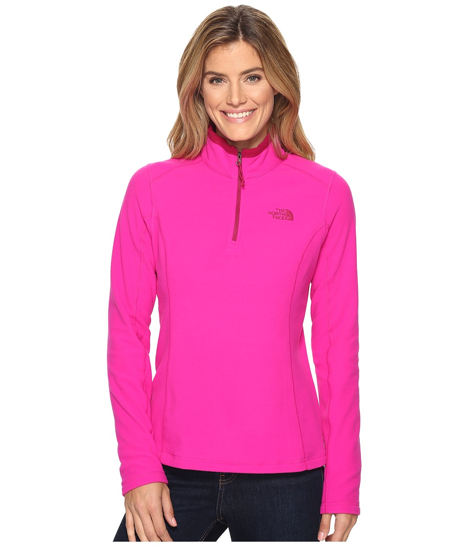The North Face 100 WT Glacier 1/4 Zip Jacket (Luminous Pink) Women