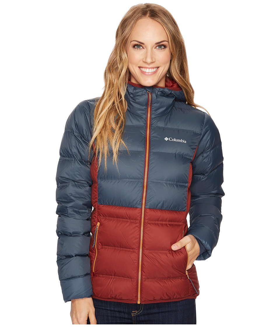 Columbia Explorer Falls Hooded Jacket (Deep Rust/Mystery/Canyon Gold) Women
