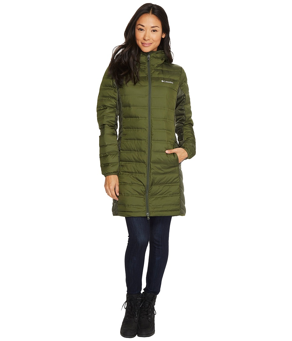Columbia Lake 22 Long Hooded Jacket (Surplus Green) Women
