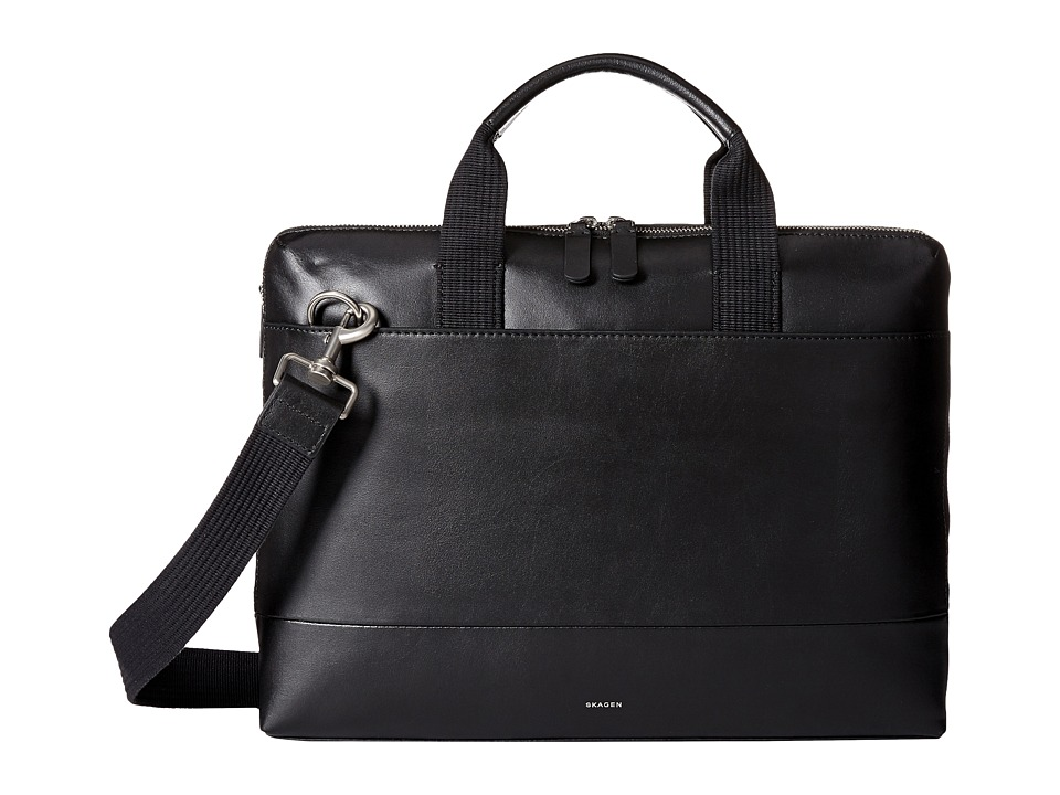 Skagen Peder Slim Brief (Black) Duffel Bags